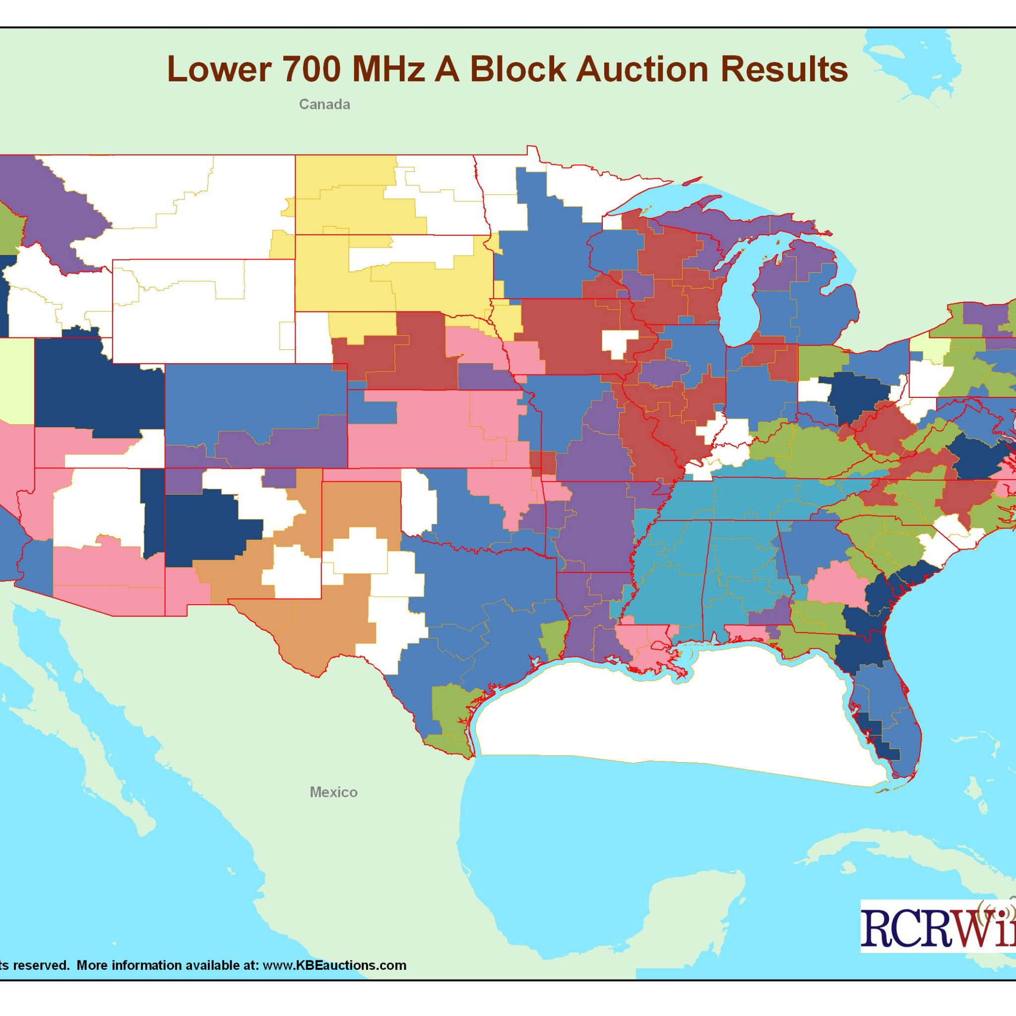 TMobile US Goes Low Verizon Wireless High In Spectrum Swap RCR - Coverage map for us cellular